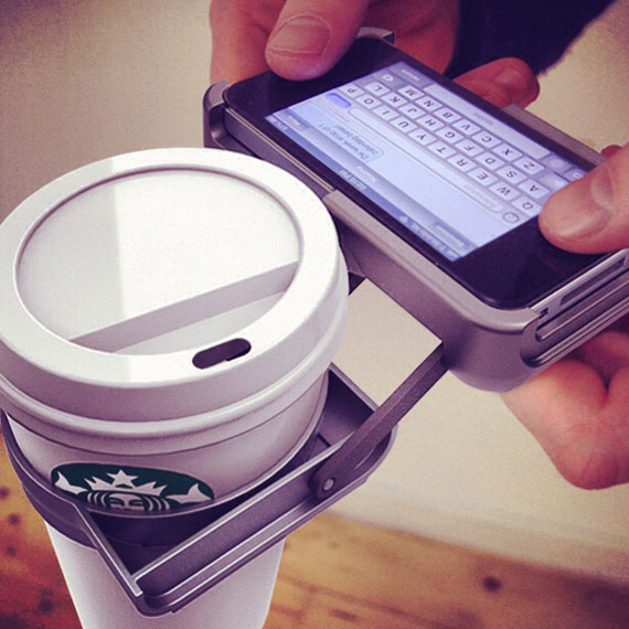 iPhone Case With Built-In Cupholder