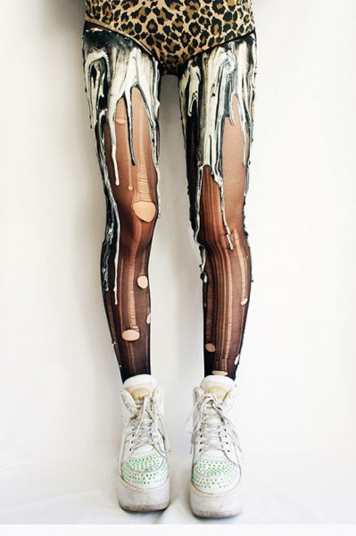 Tights That Look Like Your Legs Are Melting