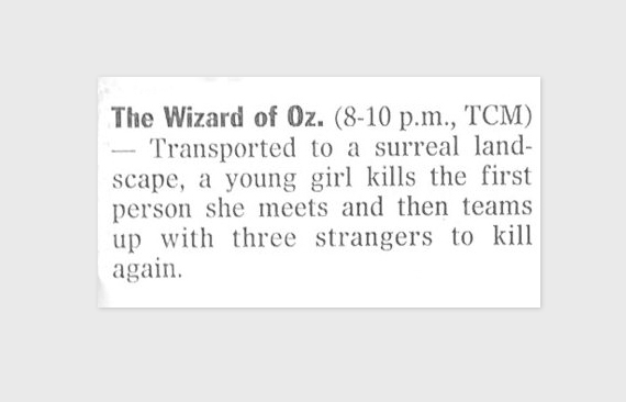 A Whole New View on The Wizard of Oz