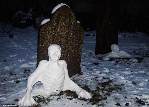Chilling Zombie Snowmen