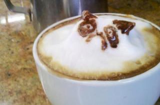 3D Grumpy Cat Latte Art