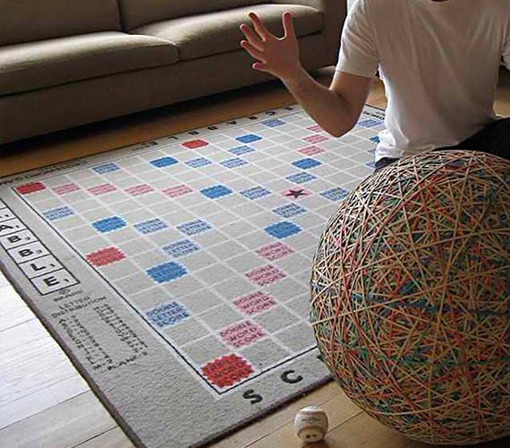 The Scrabble Rug Earns +4 For Style