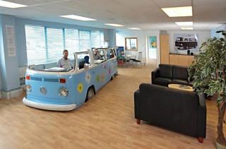 VW Van Makes One Groovy Workspace