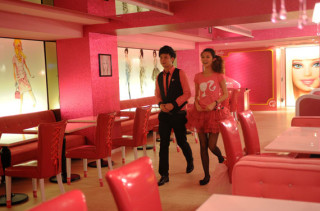 Pretty Pink Barbie Themed Cafe Opens