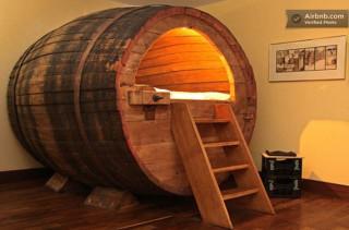 Booze & Sleep In A Beer Barrel