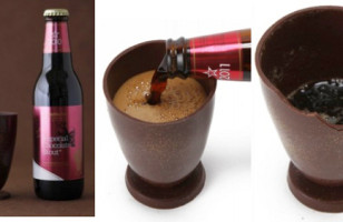 Drink Chocolate Beer Out Of A Chocolate Glass
