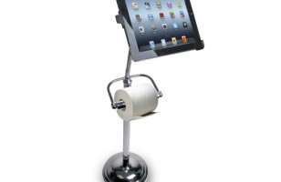 A… Toilet Paper Holder iPad Stand?