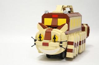 Totoro's Catbus Built From LEGO