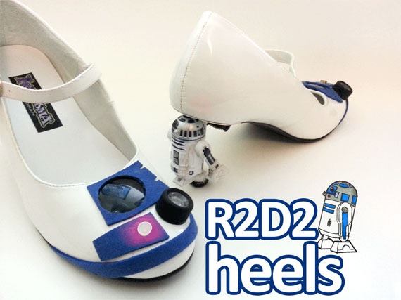 BEEP BOOP: DIY Light-Up R2-D2 Heels