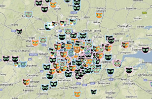 Cat Map Helps You Keep Track of All The Cute Kitties