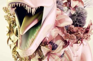 Scary Gorey Flower Arrangements