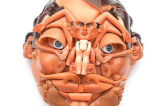 Face Sculptures Made Of Toys & Dolls