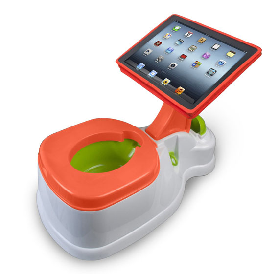 iPad Dock For A Toddler's Potty