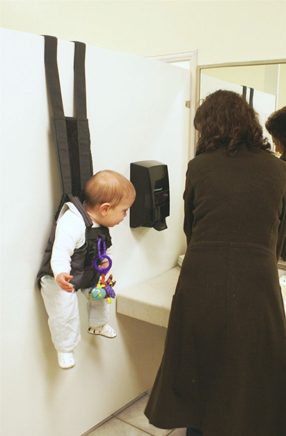 Hands-Free Over The Door Baby Holder | Incredible Things