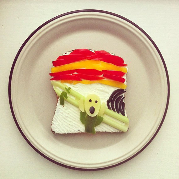 Famous Works Of Art Recreated On Toast