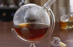 Our Boozy Planet: Glass Globe Decanter