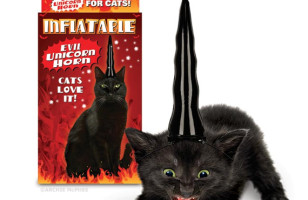 Yesssss: Evil Unicorn Horn for Cats