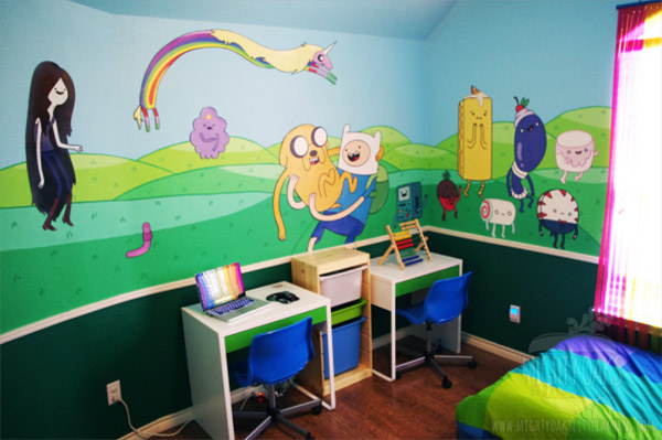 awesome adventure time bedroom incredible things