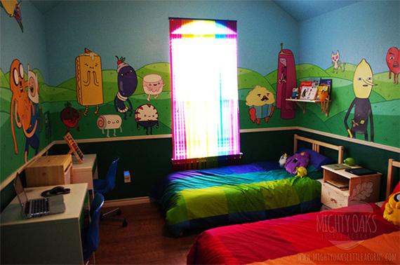 Impressionante quarto baseado no desenho Adventure Time (Hora da Aventura)