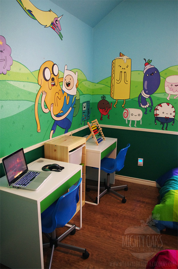 Awesome adventure time bedroom incredible things for Adventure bedroom ideas