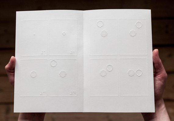 A Braille Comic Book for Blind People