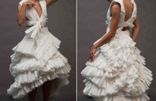 A Toilet Paper Wedding Dress