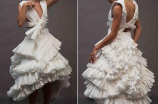 A Toilet Paper Wedding Dress