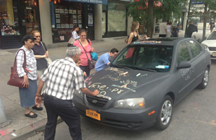 Draw On Me Chalkboard Car