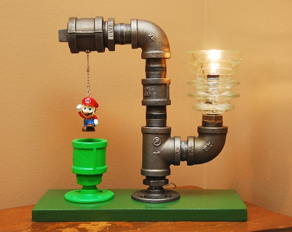 Industrial Mario Warp Pipe Lamp