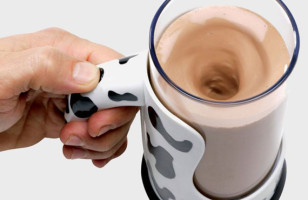 Mug With Built In Chocolate Milk Mixer