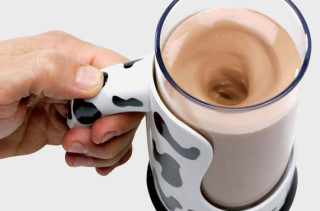 Mug With Built In Chocolate Milk Mixer