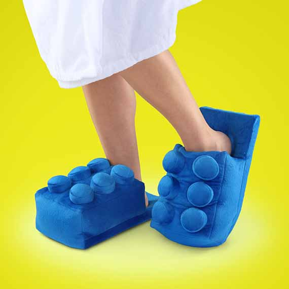 Sounds Painful: LEGO Brick Slippers