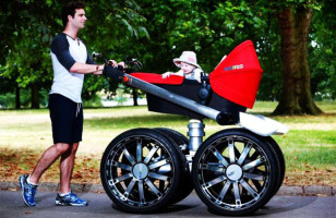 The Manliest Baby Stroller