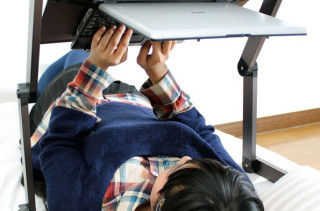 Upside Down Laptop Stand