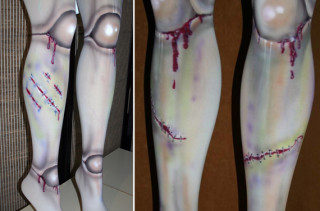 Dead Legs: Grody Zombie Doll Tights