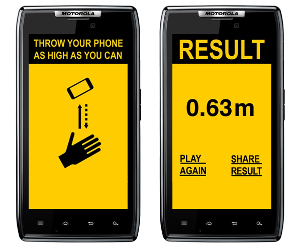 SMTH App Tests How High You Can Throw Your Phone