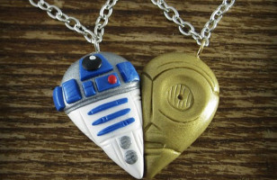 R2D2 & C3PO BFF Necklaces