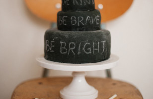 Edible Chalkboard Cake and Chalk
