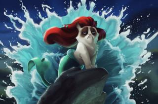 Grumpy Cat Meets Disney Movies