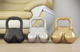 Boobie-Shaped Kettle Bells