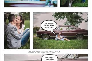 Comic Book Engagement Shoot