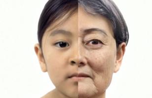 Girl Aging 60 Years