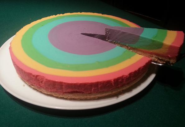 Rainbow Cheesecake | Incredible Things