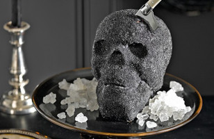 No Body Can Deny A Slice Of Skull Cake