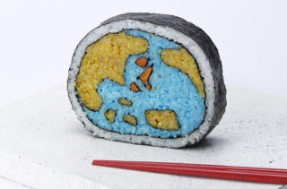 Intricate Sushi Roll Art