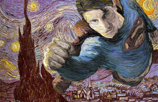 Classic Paintings Updated With Superheroes