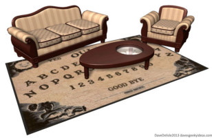 Ouija Board Coffee Table & Rug