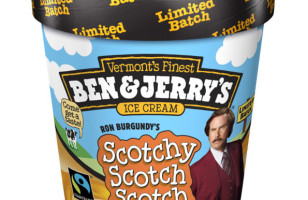 Ron Burgundy Flavored Ice Cream