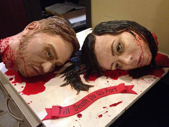 Creepiest Wedding Cake EVAR