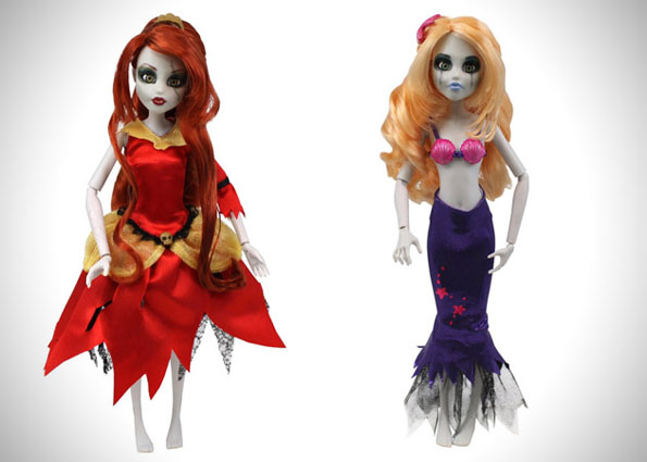 Zombie Disney Princess Dolls